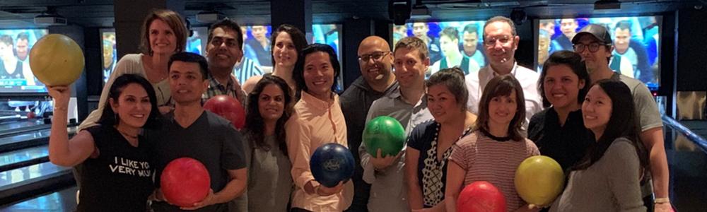 Faculty Wellness Team bowling