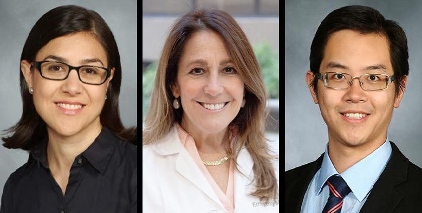 L-R: Drs. Rachel Kowalsky, Shari Platt & Anthony Yuen