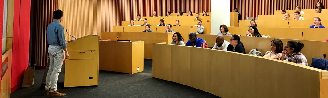 Professor lecturing in lecture hall